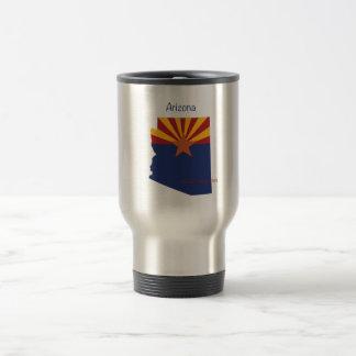 Arizona Flag and Map Travel Mug