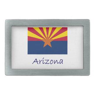 Arizona Flag And Name Rectangular Belt Buckles