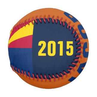 Arizona Flag Baseball with Customizable Name