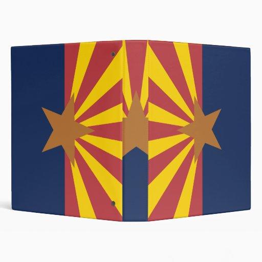 Arizona Flag 3 Ring Binders