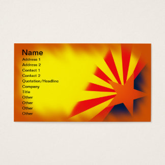 Arizona Flag Business Cards. Business Card