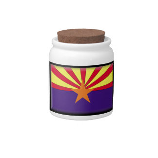 Arizona Flag Candy Dishes