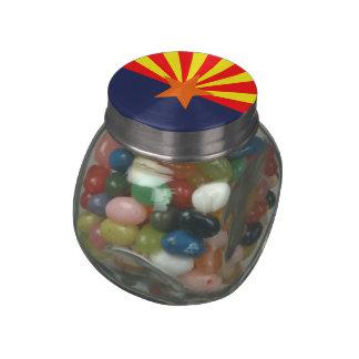 ARIZONA FLAG GLASS CANDY JARS