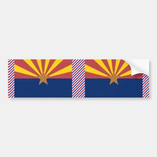 Arizona Flag Car Bumper Sticker