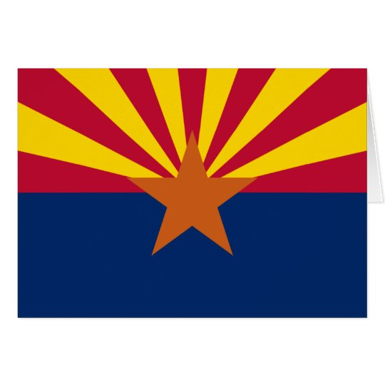 ARIZONA FLAG CARD