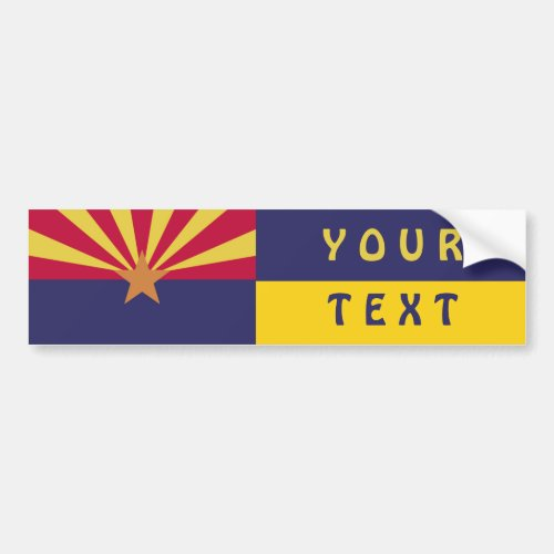 Arizona Flag Create Your Own Bumper Sticker