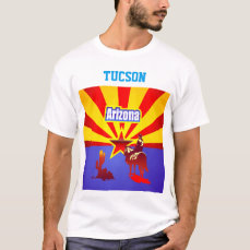 Arizona Flag Customized With The Name Of Your City T-Shirt