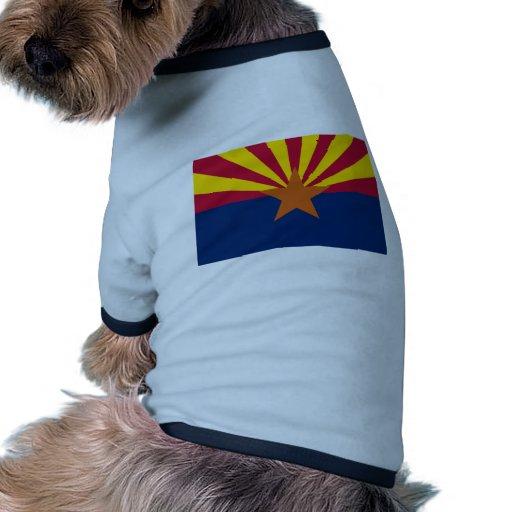 ARIZONA FLAG DOG TSHIRT