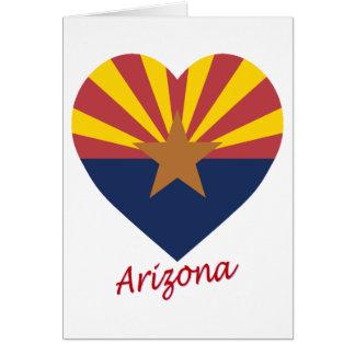 Arizona Flag Heart Card