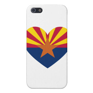 Arizona Flag Heart Shape Covers For iPhone 5