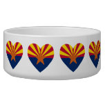 Arizona Flag Heart Shape Pet Bowls