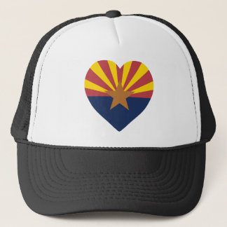 Arizona Flag Heart Trucker Hat