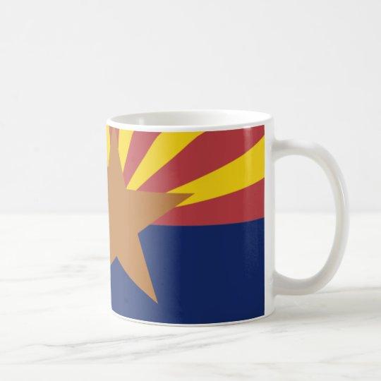 Arizona Flag Map Coffee Mug
