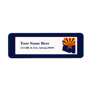 Arizona Flag Map Design Return Address Label