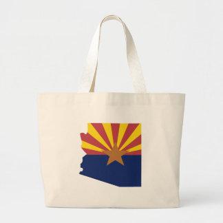 Arizona Flag Map Large Tote Bag