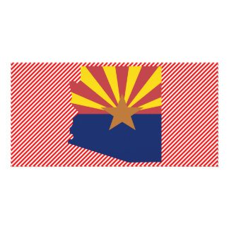 Arizona Flag Map Photo Greeting Card