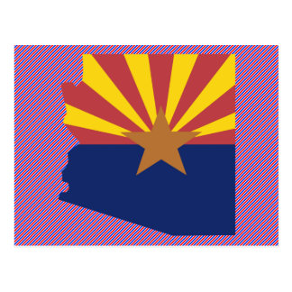 Arizona Flag Map Postcard