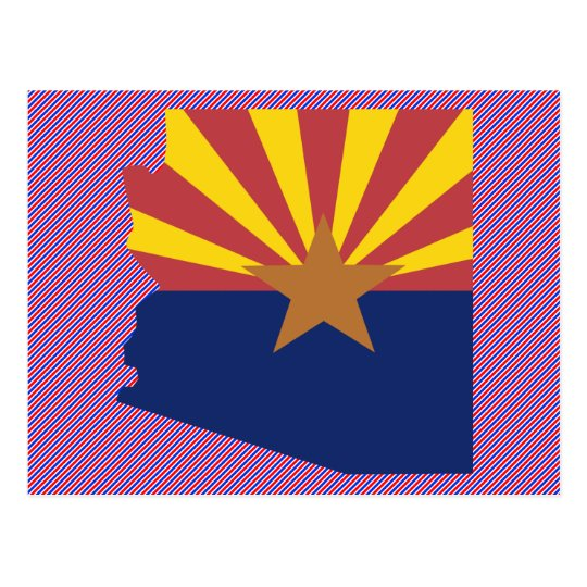 Arizona Flag Map Postcard
