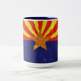 ARIZONA FLAG Two-Tone COFFEE MUG