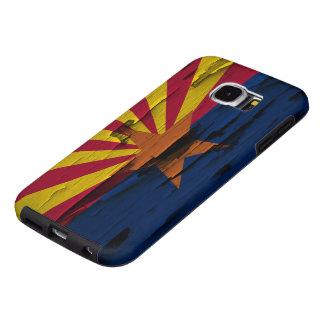 Arizona Flag Paint Peel Samsung Galaxy S6 Case