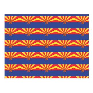 ARIZONA Flag Pattern Postcard