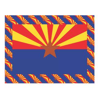 ARIZONA Flag Pattern Postcards