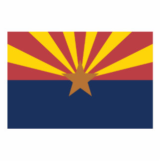Arizona Flag Acrylic Cut Outs