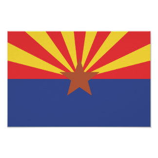 ARIZONA Flag - Poster