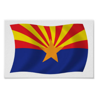 Arizona Flag Poster Print