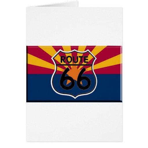 Arizona flag Route 66 Greeting Card