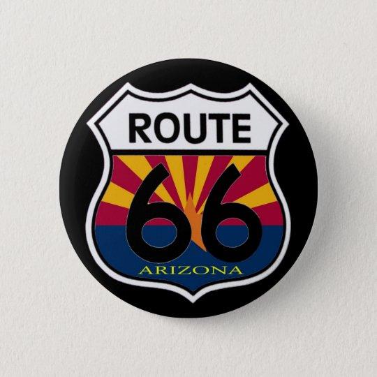 Arizona Flag Route 66 Shield Button