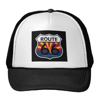 Arizona Flag Route 66 Shield Hats