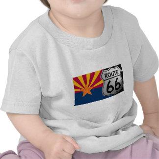 Arizona Flag Route 66 Tee Shirt