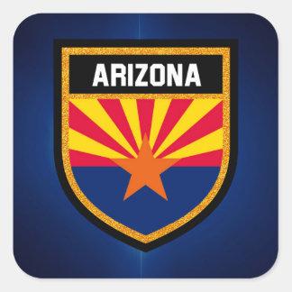 Arizona Flag Square Sticker