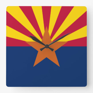 Arizona Flag Square Wall Clock