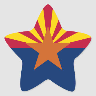 Arizona Flag Star Sticker