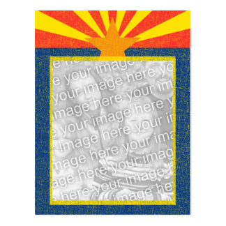 arizona flag template postcard
