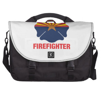 Arizona Flag Volunteer Firefighter Cross Bags For Laptop