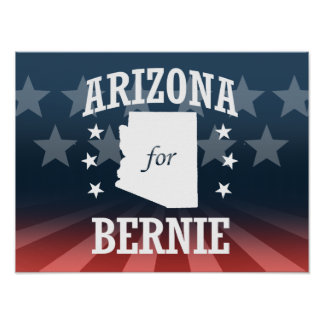 ARIZONA FOR BERNIE SANDERS POSTER