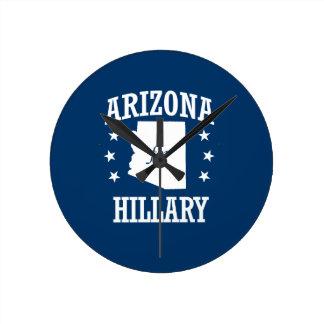 ARIZONA FOR HILLARY ROUND WALL CLOCK