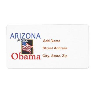 Arizona for Obama Election Shipping Label
