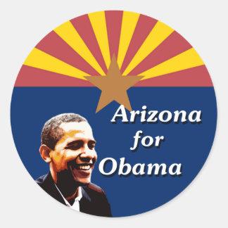 Arizona for Obama State Flag Design Classic Round Sticker