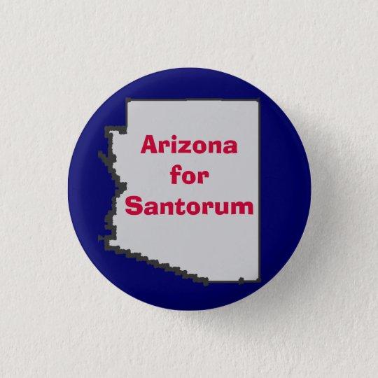Arizona for Santorum Pinback Button
