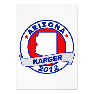 Arizona Fred Karger Custom Announcements