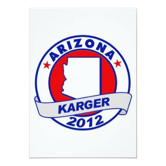 Arizona Fred Karger 5x7 Paper Invitation Card