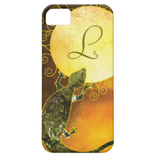Arizona Gecko Monogrammed iPhone 5/5S Barely There iPhone 5 Cases