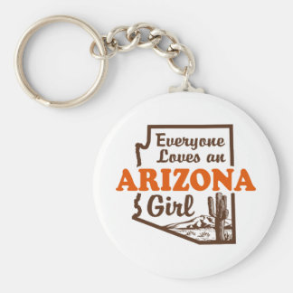 Arizona Girl Basic Round Button Keychain