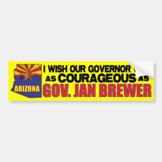 Arizona Governor Jan Brewer Bumper Sticker