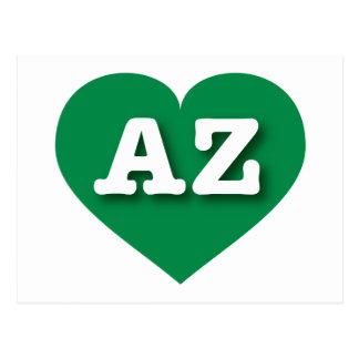 Arizona green heart - Big Love Postcard