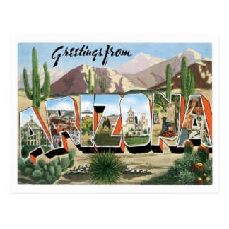 Arizona Greetings From US States Postcard